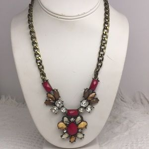 Bronze Tone Statement Necklace